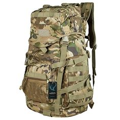 G4Free 40L Military Tactical Rucksacks Backpack Camping Hiking Trekking Unisex Outdoor Sport Bag 600D Polyester Multicolor ** To view further for this item, visit the image link. This Amazon pins is an affiliate link to Amazon.
