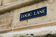 Logic Lane in Oxford.     This street makes so much sense:)