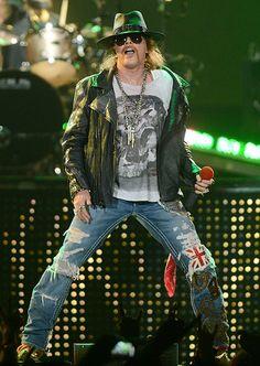 Axl Rose of Guns N' Roses