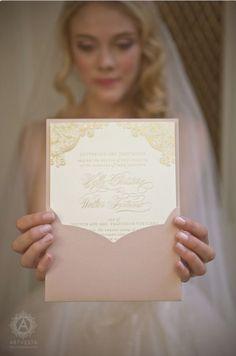 Sweet wedding invite colours