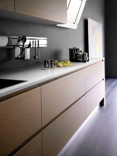 Trendy kitchen grey and white modern stainless steel ideas Farmhouse Kitchen Cabinets, Modern Kitchen Cabinets, Farmhouse Style Kitchen, Rustic Kitchen, Kitchen Furniture, Kitchen Ideas, Kitchen Grey, Kitchen Drawers, Modern Kitchen Interiors