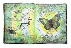 Art Journaling page with video Tutorial by Keren Tamir