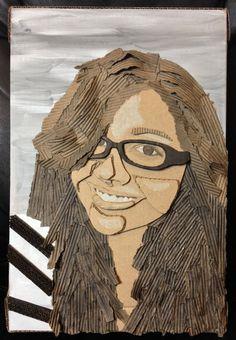 Self Portrait .:Cardboard:. by FallThruStardust