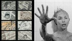 Te mostramos fragmentos de storyboards de algunos de los filmes más famosos de la historia del cine.