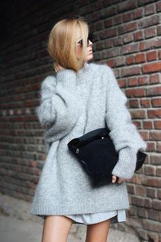 Big, Gray, Fluffy, Sweater Weather