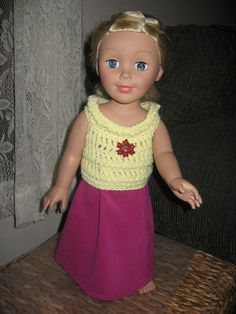 Brenda's Bric-a-Brac-soon to be published, free pattern for top for 28 inch doll