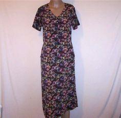 Butterfly 2Fer Dress CHRISTOPHER & BANKS Short Sleeves V-Neck Womens Sz 8 #ChristopherBanks #2fer #WeartoWork