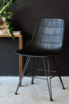 Black Rattan Dining Chair - Dining Chairs - Furniture More