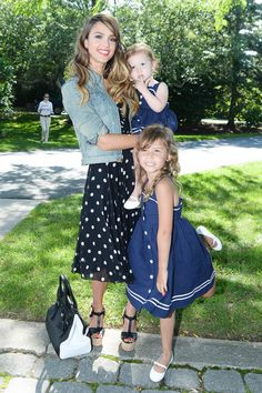 Jessica Alba with Honor and Haven Warren