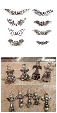 PandaHall Elite Vintage Tibetan beads Antique Silver Plated Angel Wing Charm Beads Spacer Jewelry Findings, about - Beautiful Jewelry Jewelry Findings, Wire Jewelry, Jewelry Crafts, Beaded Jewelry, Jewelery, Angel Earrings, Bead Earrings, Silver Earrings, Beaded Angels