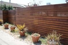 wooden front fence - Google Search