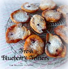 Fresh blueberry fritters