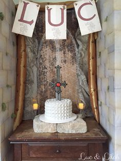 Sword in the Stone Cake by Mia's Sweet Tooth for a Medieval Knight Party by Luc & Lilah Events
