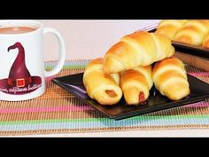Cornulete pufoase cu Rahat - YouTube I Feel Good, Croissant, Nutella, French Toast, The Creator, Rolls, Food And Drink, Bread, Make It Yourself