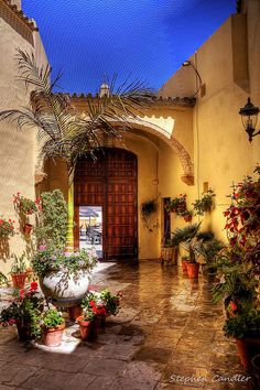 The courtyard leading to the entrance of the Iglesia de la 'O' ~ Rota, Andalusia, Spain
