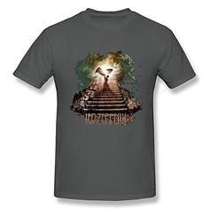WAYNEY Led Zeppelin Rock Band Short Sleeve Tshirt For Mens DeepHeather X-Large
