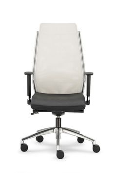 Office chair with net high back. Lightness and elegance of forms. Aesthetic simplicity and correct ergonomics. Range of models to satisfy any furnishing requirement. Steel: seat down, please. Maximum care for details. All models with a back handle for easy handling. Fabric reinforcement on parts liable to greater wear and tear. http://www.idfdesign.com/ergonomic-office-chairs/steel-st01rt.htm [ #design #designfurniture #chair #sedia #OlivoGroppo #metalStructure #strutturaMetallo #officeChair…