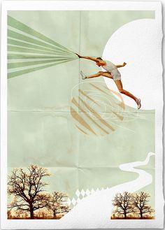 You Can Do It Fine Art Collage Illustration Print por EineDerGuten