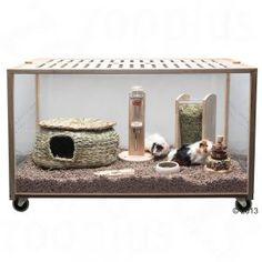 Cage Living World Green Eco Habitat pour rongeur et lapin