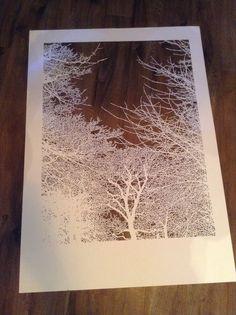 Papercut before framing Paper Cutting, Create, Artwork, Painting, Printmaking, Work Of Art, Auguste Rodin Artwork, Painting Art, Artworks
