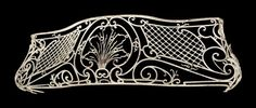 Original wrought iron balcony guard from the late The iron is all hand smith with cast and wrought iron details in a French design. Priced per guard.