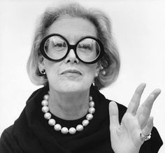 Reading Glasses  Carrie Donovan - she was so chic with an exceleent sense of humor.   PattyOnSite