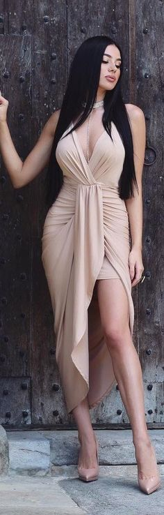 Nude // Dress by @thekript //  Fashion Look by Laura Badura