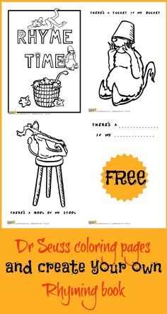 Dr Seuss Wocket in My Pocket coloring and activity pack Dr Seuss Activities, Educational Activities For Kids, Book Activities, Dr Seuss Coloring Pages, Coloring Books, Coloring Sheets, Free Coloring, Dr Seuss Rhymes, Preschool Lessons