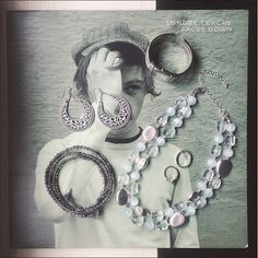 the lovelee girl: 365 - Casual Cool Necklace, Crescent Earrings, Cairo Watch, It's A Wrap Bracelet by Premier Designs Jewelry