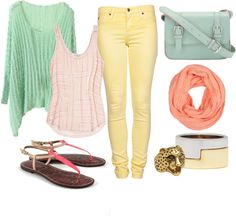 """PASTEL"" by frvrairam ❤ liked on Polyvore"