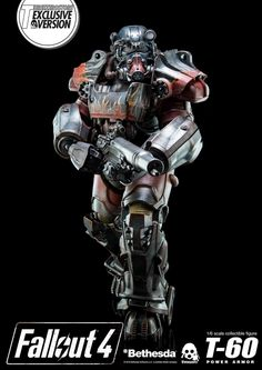1/6th scale Fallout 4 T-60 Power Armor Figure From Threezero