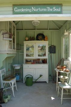 Today's Treasure by Jen  The potting shed