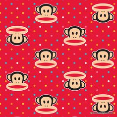 Fabric... Paul Frank Julius and Dots on Red by David Textiles