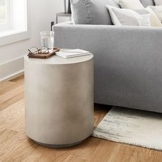 Drum Side Table, Round Side Table, End Tables, Living Room Side Tables, West Elm Side Table, Modern Side Table, Bedside Tables, Living Area, Living Rooms