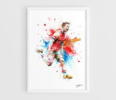 Jack Wilshere Arsenal FC  A3 Art Prints of the by NazarArt on Etsy, $15.00