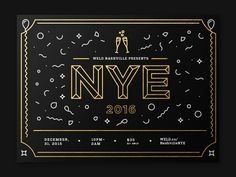 I'm not early, I'm late: forgot to share these invites I made for New Years Even last year for WELD.
