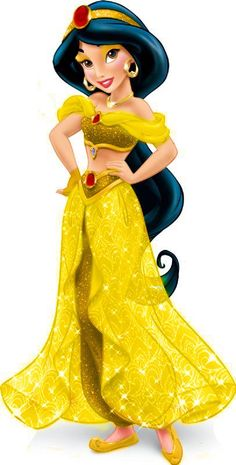 looks lovely in gold, oh my! Disney Princess Facts, Disney Princess Jasmine, Aladdin And Jasmine, Disney Princess Pictures, Disney Princess Dresses, Princess Art, Disney Pictures, Disney Girls, Disney Love