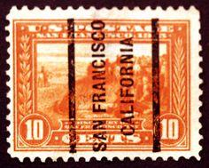 #400a 10c Orange 1913 VF Used San Francisco Precancel Rare