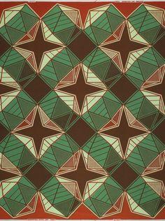 Vlisco wax block print fabric