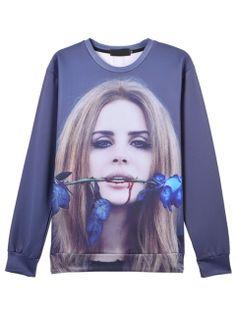 Choies 3D Unisex Lana Del Rey Reprint Sweatshirt