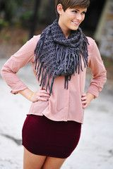 Geared Up For Fall Skirt: Burgundy #shophopes