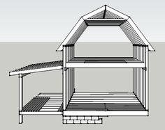 All About Gambrel Roof - A gambrel or gambrel roof is a usually symmetrical two-sided roof with two slopes on each side The upper slope is positioned at a shallow angle, while the lower slope is steep. Barn House Plans, Tiny House Plans, Cabin Plans, Shed Building Plans, Shed Plans, Shed Design, Roof Design, Balloon Frame, Small Log Cabin