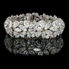 Best Diamond Bracelets : HARRY WINSTON, New York, Marquise, pear & round diamond Abstract bracelet. Diamond Bracelets, Diamond Jewelry, Bangle Bracelets, Bracelet Set, Bangles, Flower Bracelet, Diamond Rings, Antique Jewelry, Vintage Jewelry