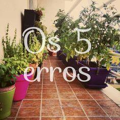 Horta em casa - 5 Erros que cometemos #horta #hortaemcasa #hortaurbana Green Garden, Herb Garden, Vegetable Garden, Garden Plants, Organic Gardening, Gardening Tips, Comment Planter, Little Gardens, Green Life