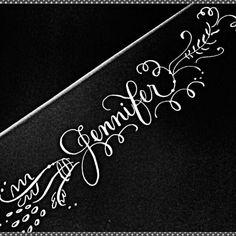 Pretty Calligraphy...let us design something fir you! #calligraphy #namedesign #logo #prettywriting #prettythings  #lettering #internationalcalligrapher #nationwidecalligrapher #CalligraphybyJennifer