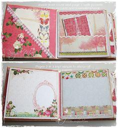 Suzi Mac Creations : Mini Albums - my other passion Mini Scrapbook Albums, My Scrapbook, Scrapbooking, Memory Album, Memory Books, Rain Design, Paper Lace, 3d Paper, Websters Pages