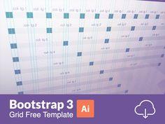 Bootstrap 3 Responsive Grid Illustratror Templates (AI)