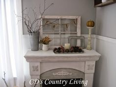 Mantel Makeover from CD's Country Living