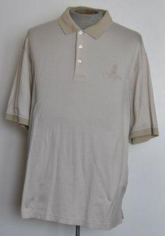 The Ritz-Carlton Naples Mens Size 2XL Beige 100% Cotton Short Sleeve Polo Shirt #TheRitzCarlton #PoloRugby