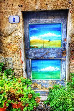 Tuscan Door, Italy - ©Eggers Photography (via FineArtAmerica)